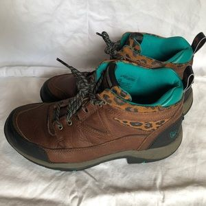 Ariat Terrain Boots with Leopard and Teal